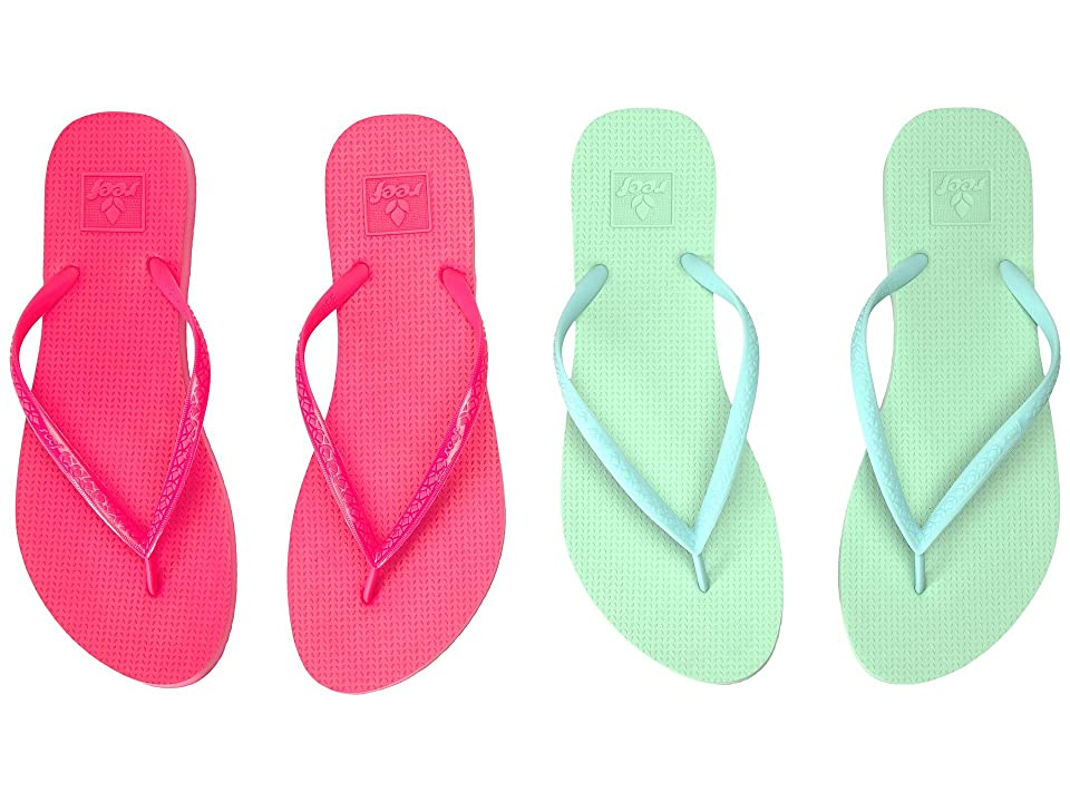 Reef Escape 2-Pair Variety Pack (Pastel (Mint & Hot Pink)) Women
