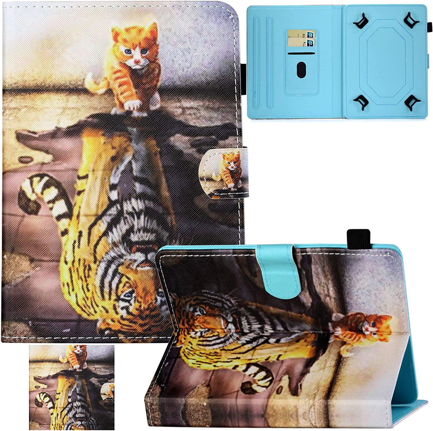 Universal Case for 7.5-8.5 Inch Tablet,Artyond PU Leather Card Slot Stand Case for iPad Mini 1 2 3 4 5/Galaxy Tab 8.0/Kindle Fire HD8/Huawei 8.0