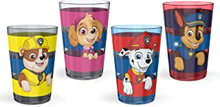 Zak Designs 14.5oz PAW Patrol Nesting Tumbler Set Includes Durable Plastic Cups, Fun Drinkware is Perfect for Kids, 4pk (1...