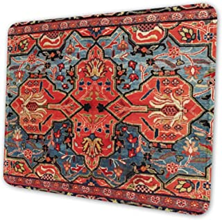 Mouse Pad with Stitched Edge,Kashan Poshti Central Persian Premium-Textured Mouse Mat, Non-Slip Rubber Base Mousepad for L...