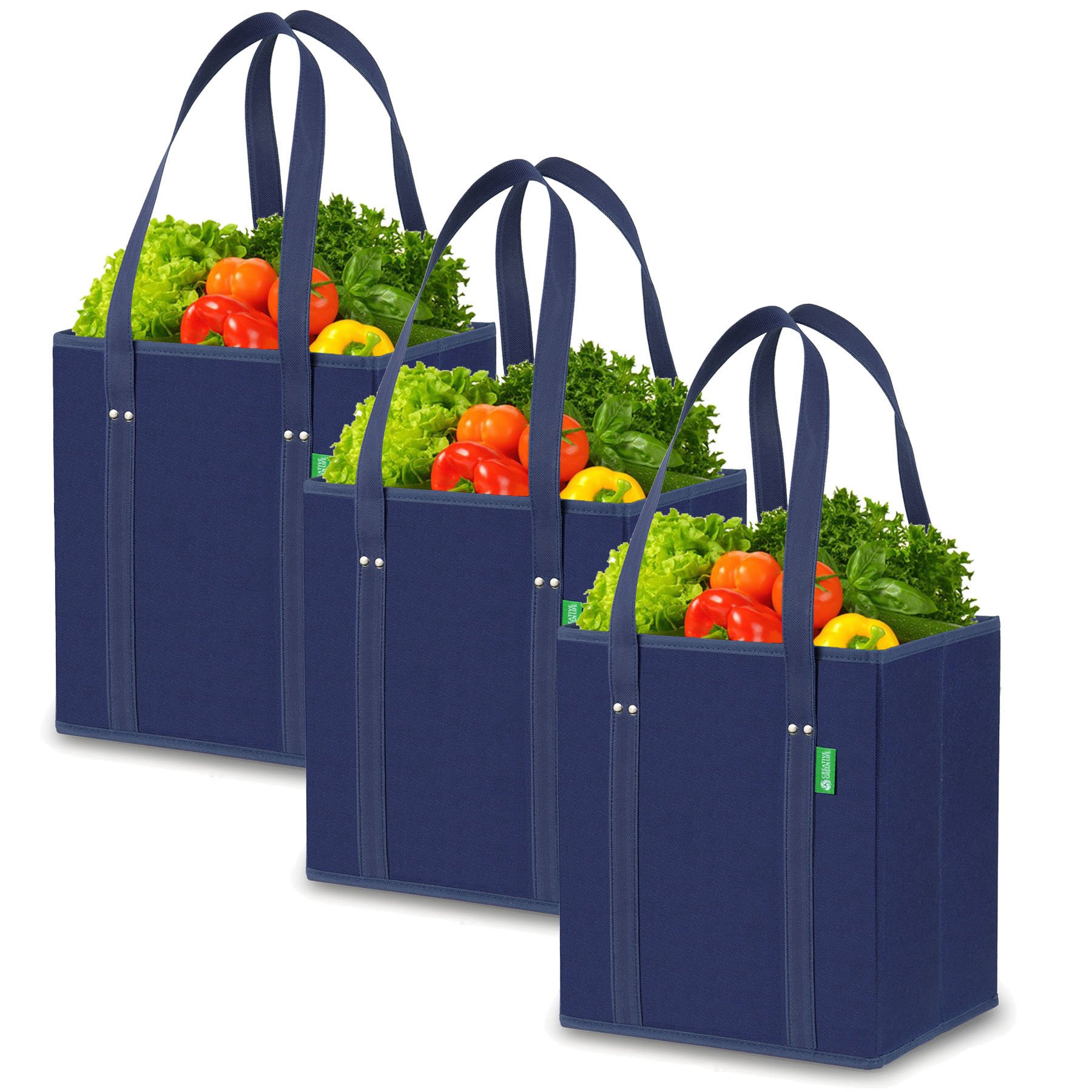Reusable Grocery Shopping Bags Pack