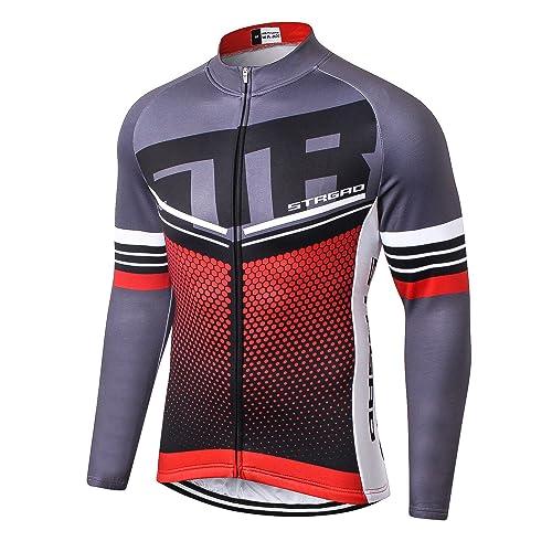 8ca307c1c51 MR Strgao Men s Cycling Winter Thermal Jacket Windproof Long Sleeves Bike  Jersey Bicycle Coat M