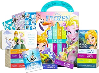 Disney Frozen Storybook Collection Set Disney Board Books Bundle ~ 12 Pack Disney Frozen My First Library Block Books with...