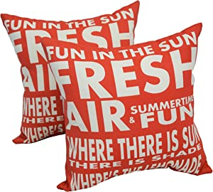 Blazing Needles Solarium Fun in The Sun 17-inch Indoor/Outdoor Throw Pillows (Set of 4)