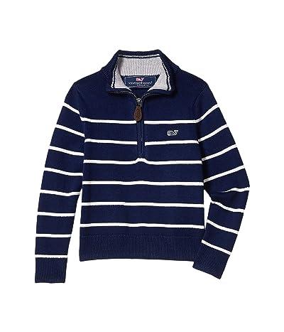 Vineyard Vines Kids Beau Stripe Sweater (Toddler/Little Kids/Big Kids) (Deep Bay) Boy