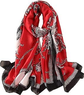 Silk Scarf 100% Mulberry Silk Fashion Scarves Long Lightweight Shawl Wrap