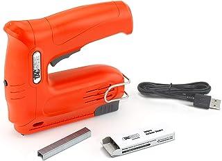 Tacwise 1563 Hobby 53-13EL Cordless 4V Nail Gun with 200pcs Staples Electric Stapler, Orange