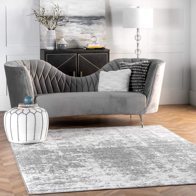nuLOOM Misty Max 70% OFF Popular standard Shades Deedra Area Rug Oval Grey 5' x 8'