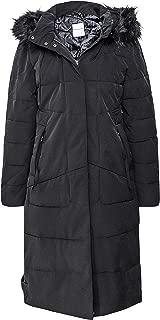 Rino and Pelle Women's Tamma Faux Fur Trim Long Puffer Coat Black