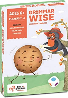 Chalk and Chuckles Grammar Wise - Educational Game for Classrooms and Home, Colorful and Fun Language Game. Learn Parts of Speech (Ages 6 to 9 Years Old)