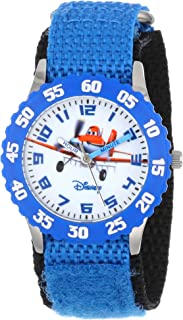 Disney Kids' W000880 Planes Fire & Rescue Stainless Steel Watch with Blue Nylon Band