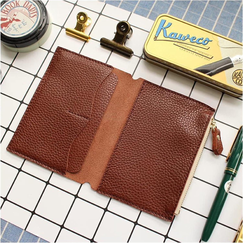 哼哼@哈哈 Litchi Grain Detroit Mall Leather Travelers Card Product S Bag Notebook