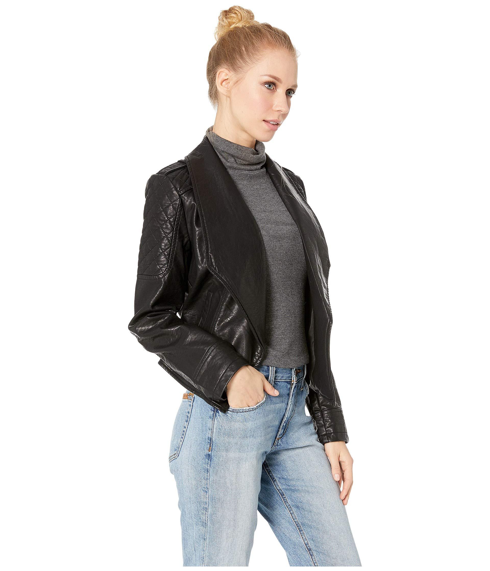 Black The 101 Drape Jack Vegan Dakota By Rippled Jacket Front Take Leather Bb xqwxIH6a