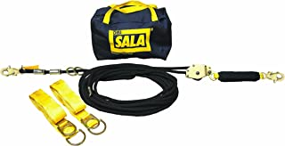 3M DBI-SALA 7600507 Horizontal Lifeline System, 70' Kernmantle Rope with Tensioner, Energy Absorber, Two 6' Tie-Off Adaptors, Carrying Bag, Black