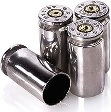 Lucky Shot Set of 4 Polished 40 Caliber Bullet Valve Stem Caps