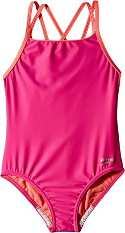 Crossback One-Piece Swimsuit (Big Kids)