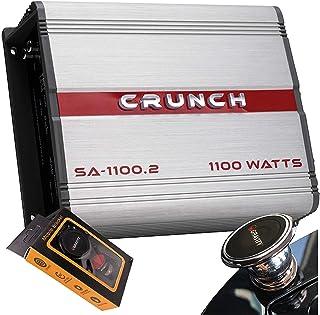 $51 » Crunch SA-1100.2 Smash Series 1,100-Watt 2-Channel Class AB Amp Car Audio Sound System Subwoofer Speaker Amp Amplifier wit...