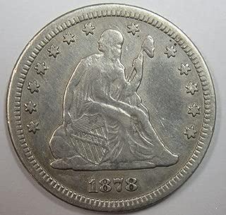 1878 CC Seated Liberty Quarter .25 VF+
