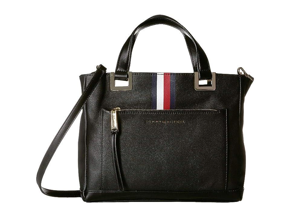 Tommy Hilfiger Althea Pebble PVC Shopper (Black) Handbags