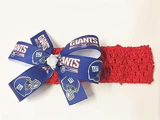 Baby Girls NY Giants Headband Giants Football NFL Hair Bow for Newborn Baby Girl