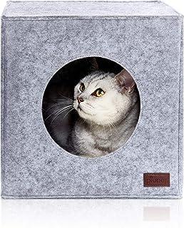 comprar comparacion PiuPet® Cama de Gato Incl. cojín, Casa de Gato Adecuada para IKEA® Kallax & Expedit | Cueva Comoda en Gris, óptica de Fiel...