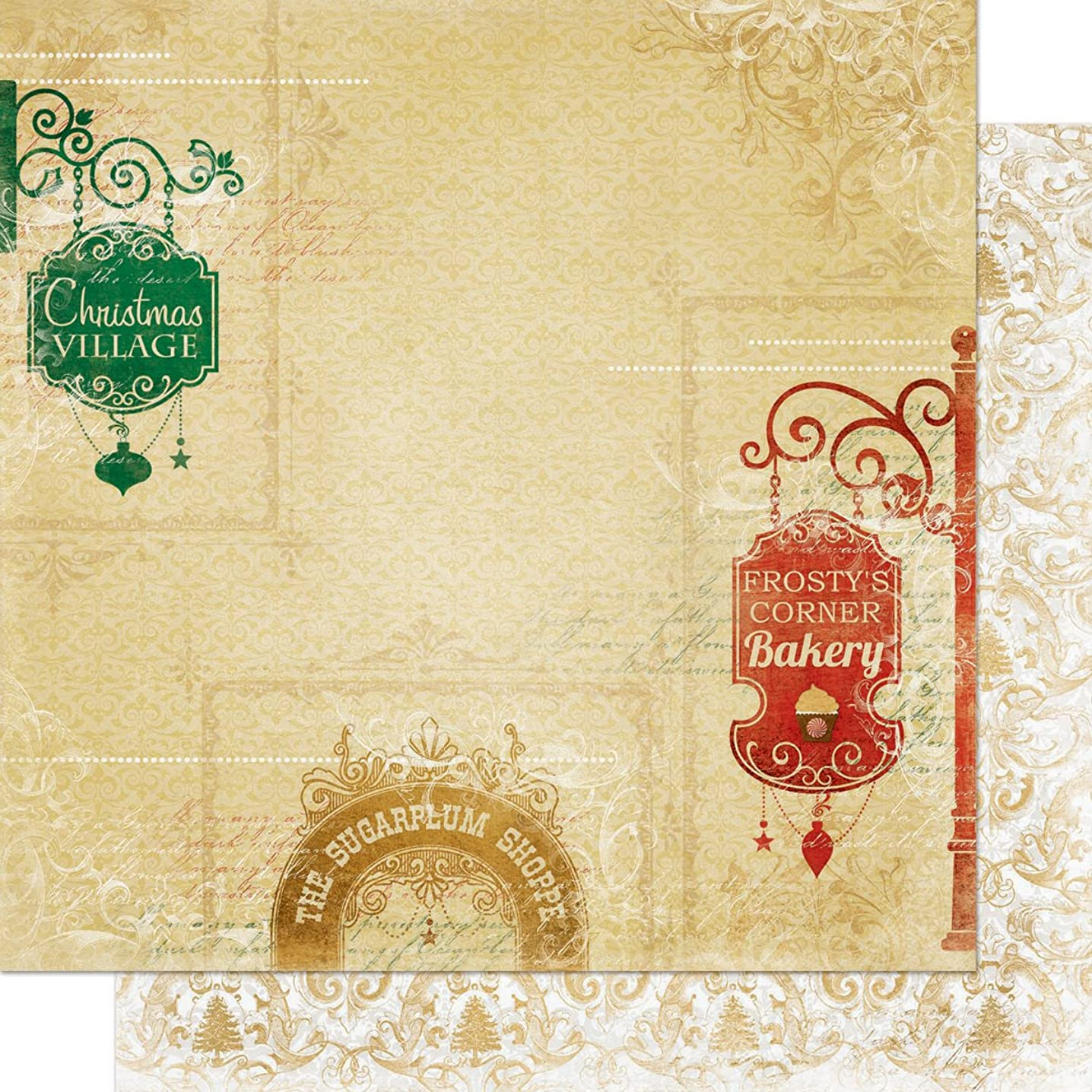 Silver & Gold Double-Sided Cardstock 12