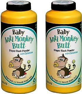 Baby Anti-Monkey Butt Diaper Rash Powder, 6oz. Bottle - 2 Pack