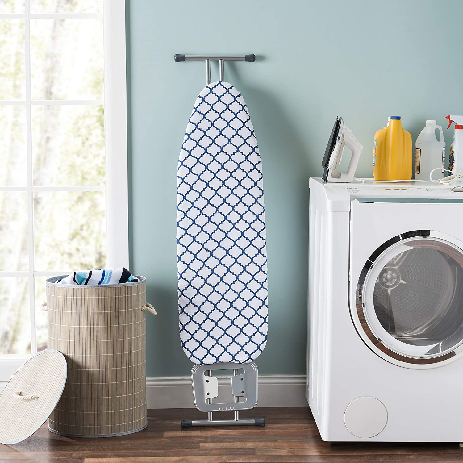 Isnt IT Ironic Thick Padding for Smooth-Wrinkle-Free Surface and Extra Stability Multi-Color Sunbeam Cotton 15 x 54 Ironing Board Cover with Elasticized Edges and Pad
