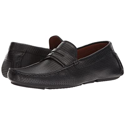 Aquatalia Brandon (Black Embossed Calf) Men