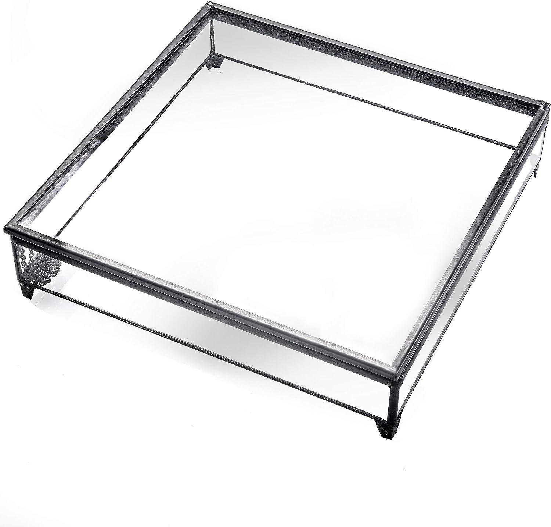 New Shipping Free J Devlin Box 749 Clear Glass Storage Case New item Display H Keepsake