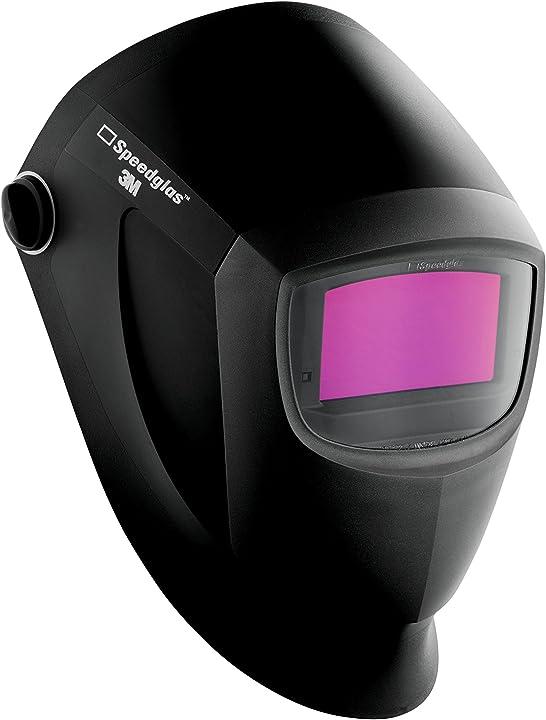 Maschera di saldatura automatica con tecnologia di punta a colori veri, design premiato 55 x 107 mm, nero 3m 401385
