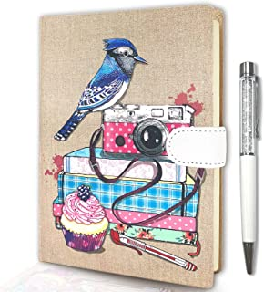 Lined Journal Notebook for Women, Hardcover Journal for Work Cute Notebooks College Ruled for Note Taking 7.5x5.3 inches 2...