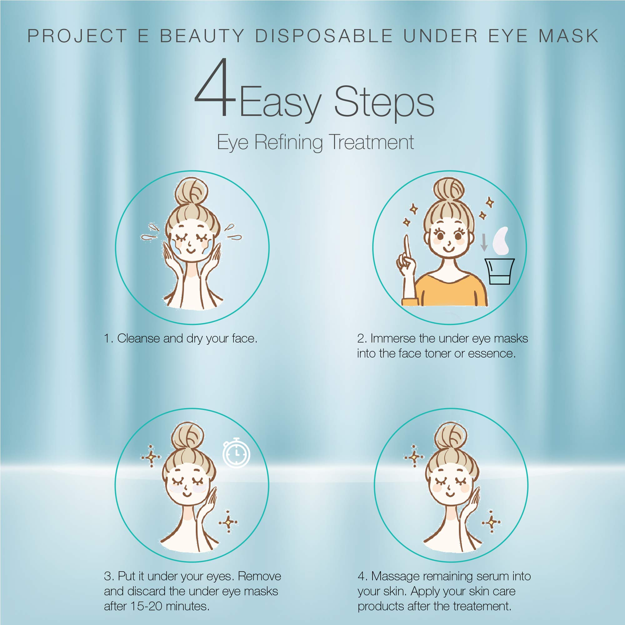Project E Beauty Disposable Non-woven DIY Natural Spa Skin Care Cosmetic Facial Paper Sheet Eye Nose Face and Compressed Mask Towel Sheet Toner Lotion Paper (Eye Zone)