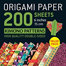 "Origami Paper 200 sheets Kimono Patterns 6"" (15 cm): Tuttle Origami Paper: High-Quality Double-Sided Origami Sheets Printed with 12 Patterns (Instructions for 6 Projects Included)"
