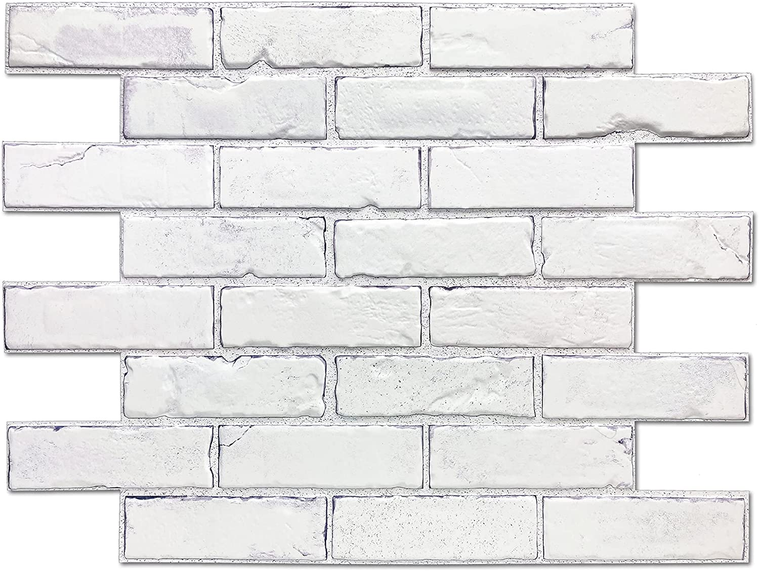 Retro-Art 3D Wall Panels Beauty products Pack of Industry No. 1 Vintage Brick PVC 10 White
