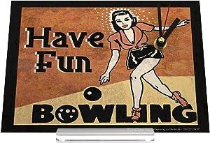 orologio dello scrittorio Retro Déco bowling vintage woman Decorativa