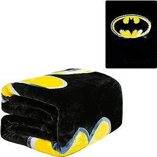 JPI Flannel Fleece Plush Blanket - Batman Emblem - Queen Bed 79