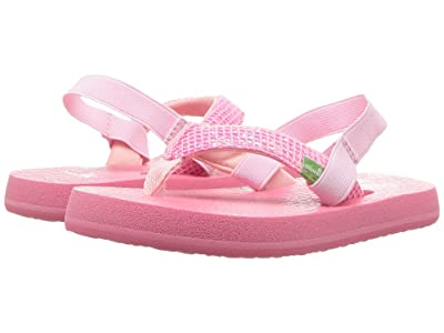 Sanuk Kids Yoga Glitter (Toddler/Little Kid) (Paradise Pink) Girls Shoes
