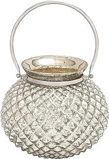 Benzara Striking Attractive Styled Glass Metal Accent