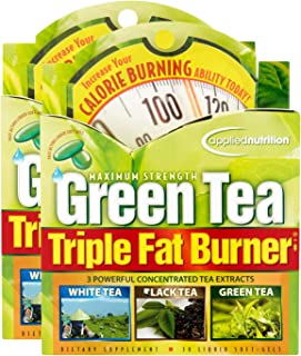 Applied Nutrition Green Tea Triple Fat Burner, 30 Liquid Soft-Gels (Pack of 2)