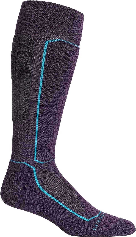 Icebreaker Merino Women's Ski+ Light OTC Socks, Small, Lotus