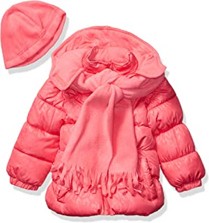 Pink Platinum Girls' Printed Puffer Jacket with Gift