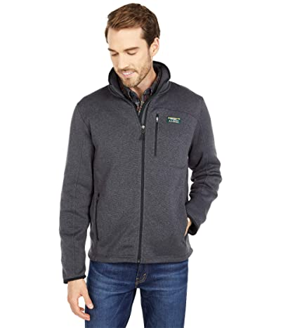 L.L.Bean Sweater Fleece Full Zip Jacket (Charcoal Gray Heather) Men