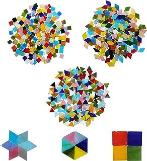 comprar comparacion Mosaico (600 piezas) - 3 formas diferentes - Diamante 2 x 1.2cm, Triángulo 1.5cm, Cuadrado 1cm Azulejos esmaltados multico...