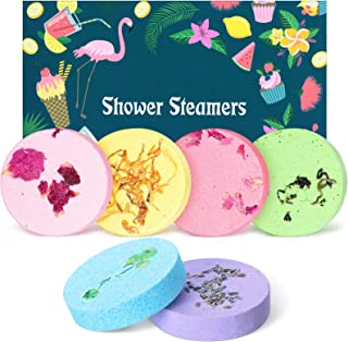 6 Pieces Shower Steamers Shower Bath Bombs Tablets Vapor Steam Tablets Aromatherapy Shower Steamers Aromatherapy Steam Tab...