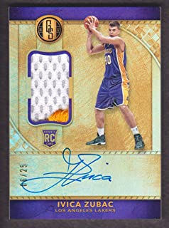 2016-17 Panini Gold Standard Basketball Rookie Patch Auto 228 Ivica Zubac 06/25 Los Angeles Lakers