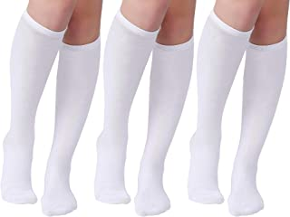 Women's Casual Stripe Knee High Socks 3 Pairs