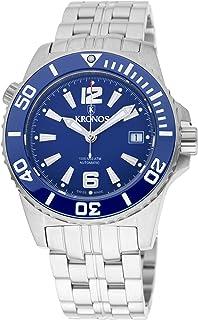 KRONOS - K300 Automatic Ceramic Blue 736N2.8.65 - Reloj Diver de Caballero automático, Brazalete de Acero, Color Esfera: Azul