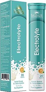 SUNSHINE NUTRITION Rehydration Effervescent Orange, 20 Tablets