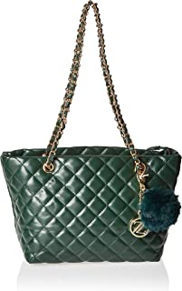 Zeneve London Womens Tote Bag, Green - 1191830532